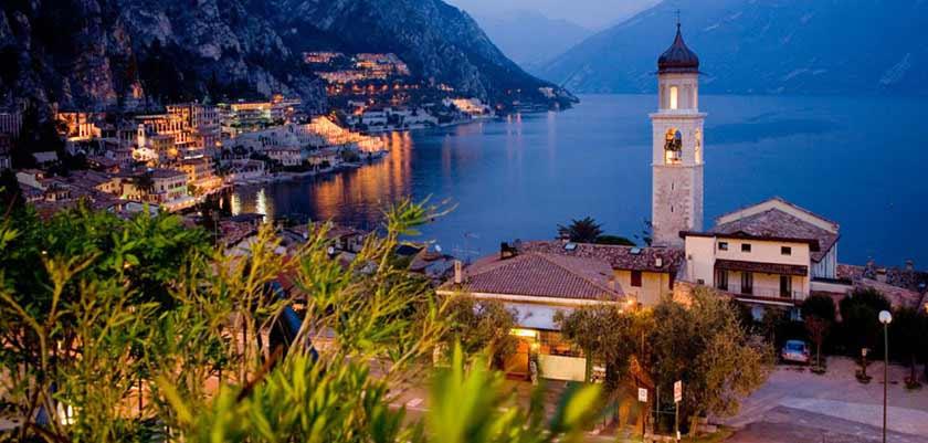 Hotel Europa, Limone, Lake Garda, Italy  - Evening views
